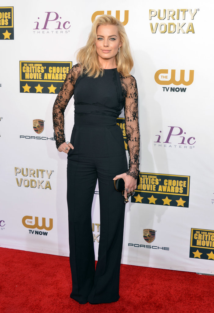 Margot Robbie sizzled in an Elie Saab jumpsuit.