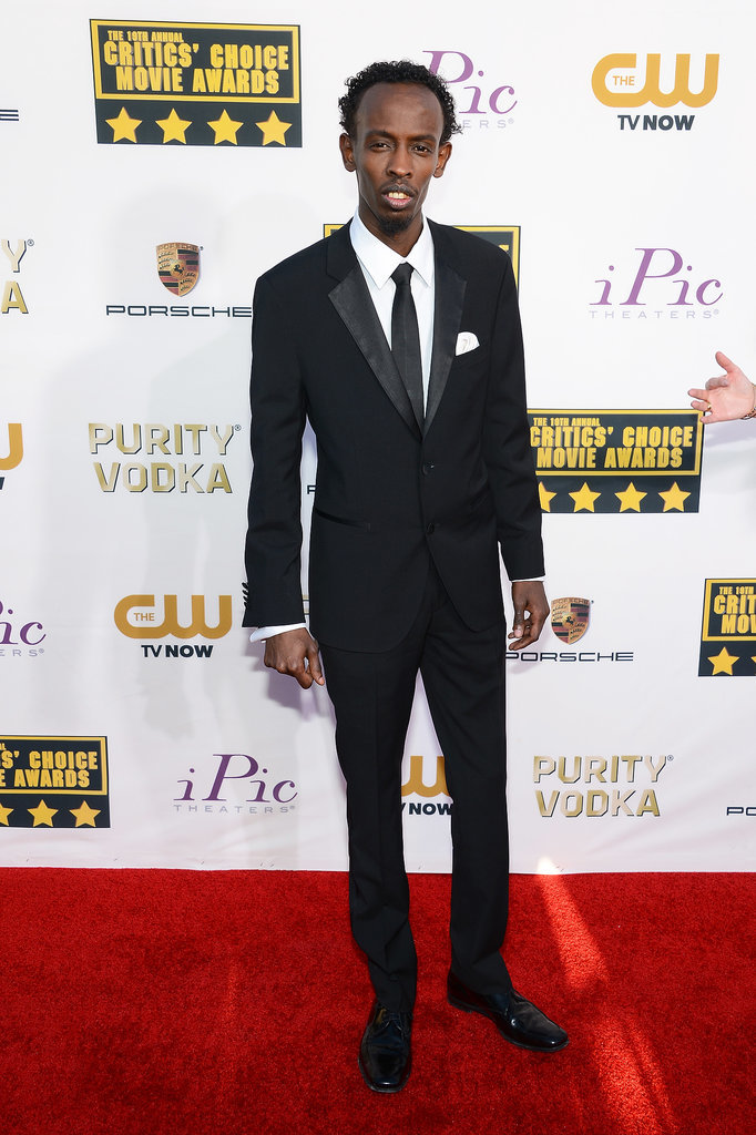 Captain Phillips star Barkhad Abdi arrived for his big night at the Critics' Choice Awards.
