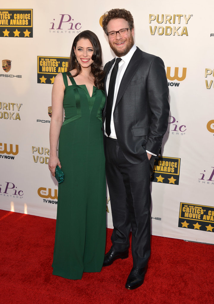 Seth Rogen was all smiles alongside his wife, Lauren Miller.