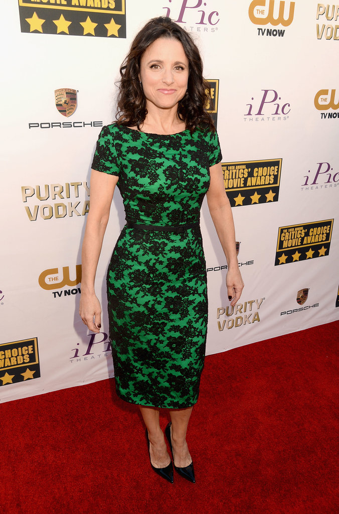 Julia Louis-Dreyfus wore a printed dress to the event.