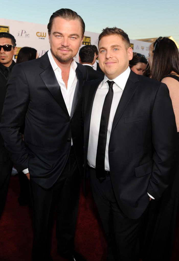 Leonardo DiCaprio and Jonah Hill hung out on the red carpet.