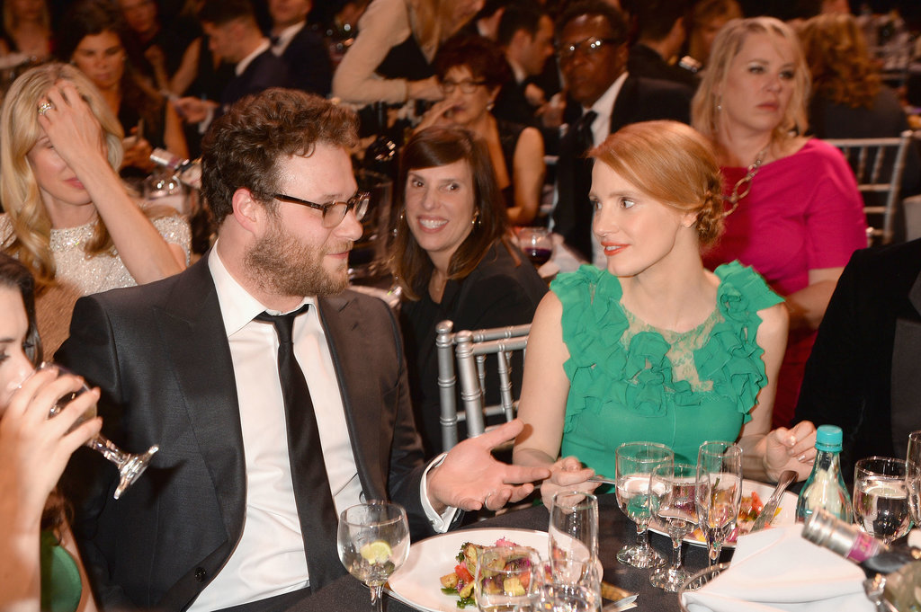 Seth Rogen and Jessica Chastain chatted.