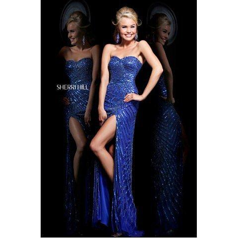 Sherri Hill 1714 Sapphire Prom Dress