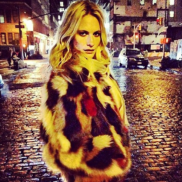 Poppy Delevingne explored New York by moonlight. Source: Instagram user poppydelevingne