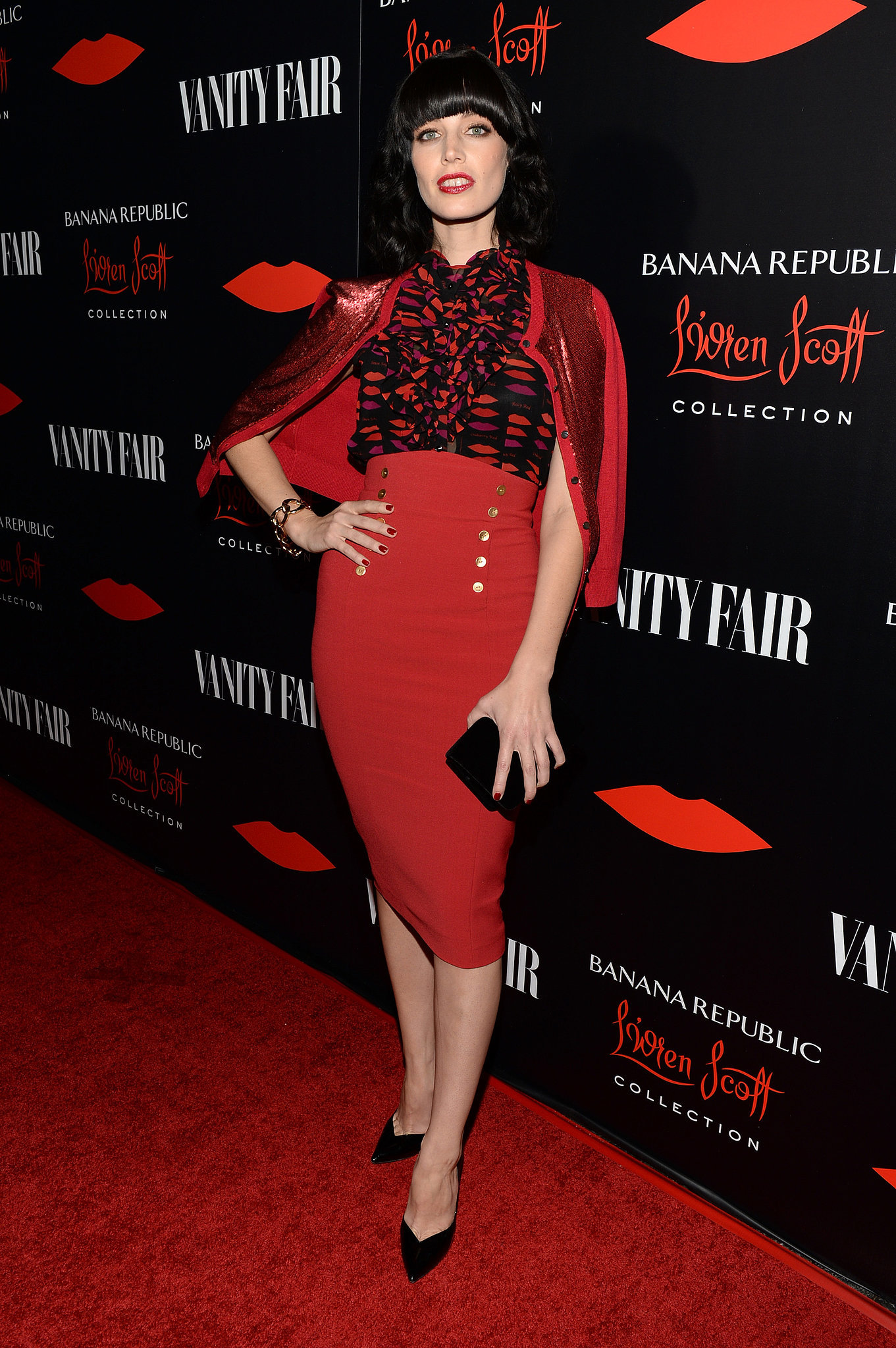 Jessica Paré was retro perfection working a full L'Wren Scott for Banana Republic ensemble for the collection's launch late last year. Where to Wear: A steamy