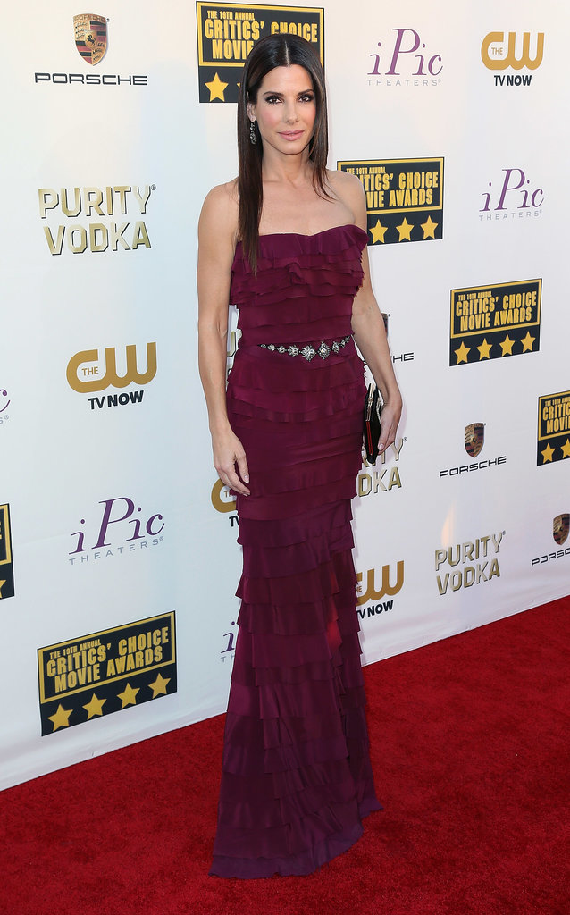 Sandra Bullock at the Critics' Choice Awards in Lanvin