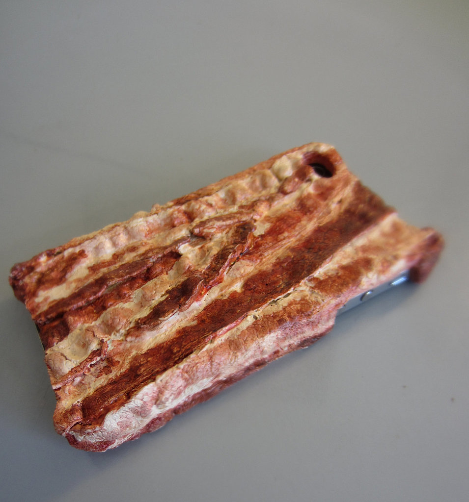 OK, this bacon iPhone case ($35) might be a little too real.