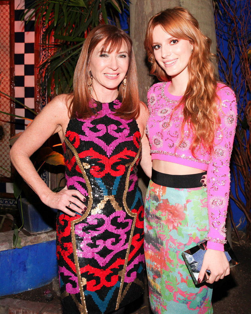Nicole Miller and Bella Thorne at Nicole Miller's dinner party.