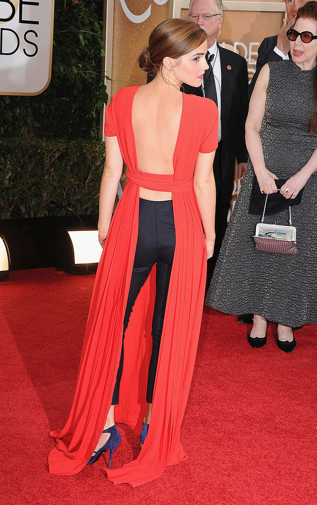 Emma Watson's Backless Golden Globes Look Was One to Remember