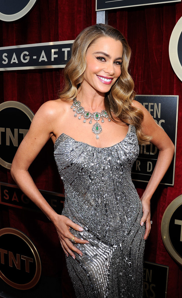 Sofia Vergara sparkled in a strapless gown.