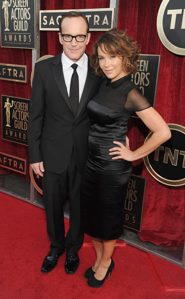 Jennifer Grey and Clark Gregg linked up at the SAG Awards.
