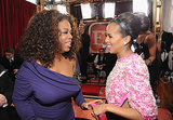 Oprah Winfrey and Kerry Washington were too cute, chatting on the carpet.