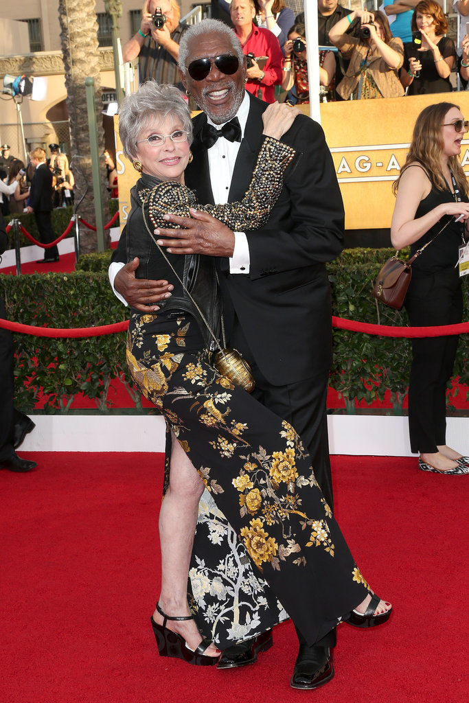 Morgan Freeman and Rita Moreno got flirty on the red carpet.