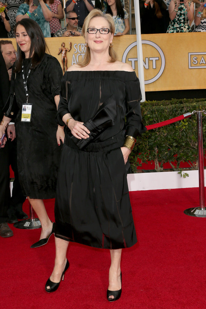 Meryl Streep arrived for her night at the SAG Awards.