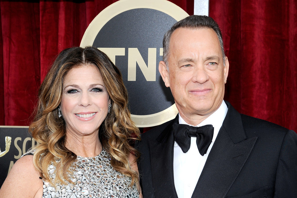 Tom Hanks and his wife, Rita Wilson, posed for pictures.