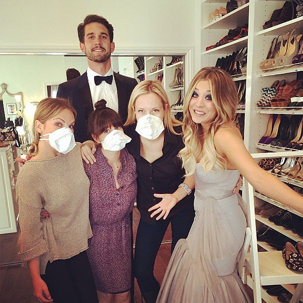 Kaley Cuoco joked that her team was trying not to get sick ahead of the SAG Awards. Source: Instagram user normancook