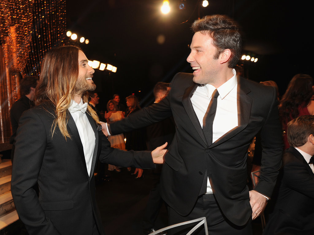 Jared Leto and Ben Affleck were excited to see each other inside the SAGs.