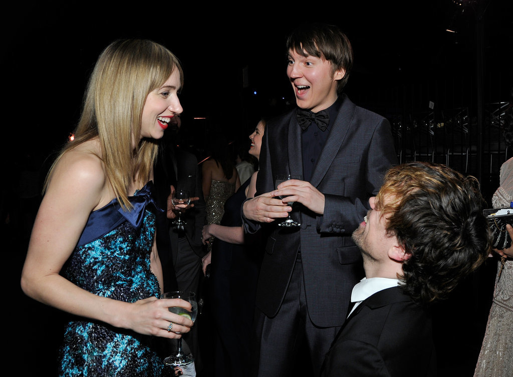 Zoe Kazan, Paul Dano, and Peter Dinklage laughed.
