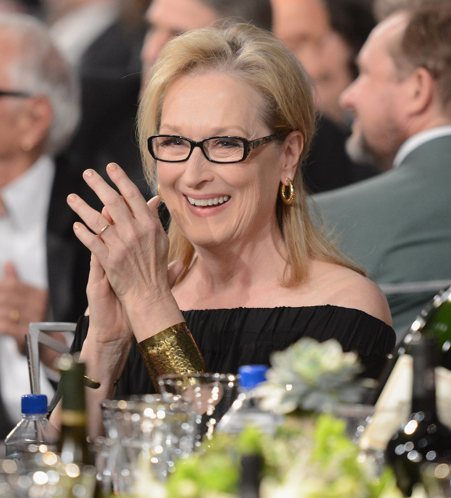 Meryl Streep clapped during the show.