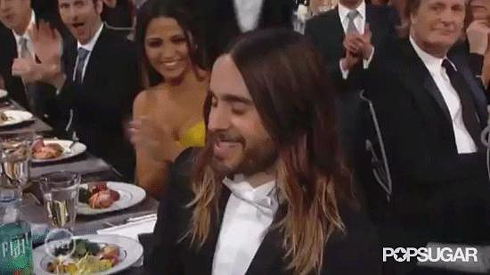 Jared Leto Kissing His Mom Before Accepting His Award