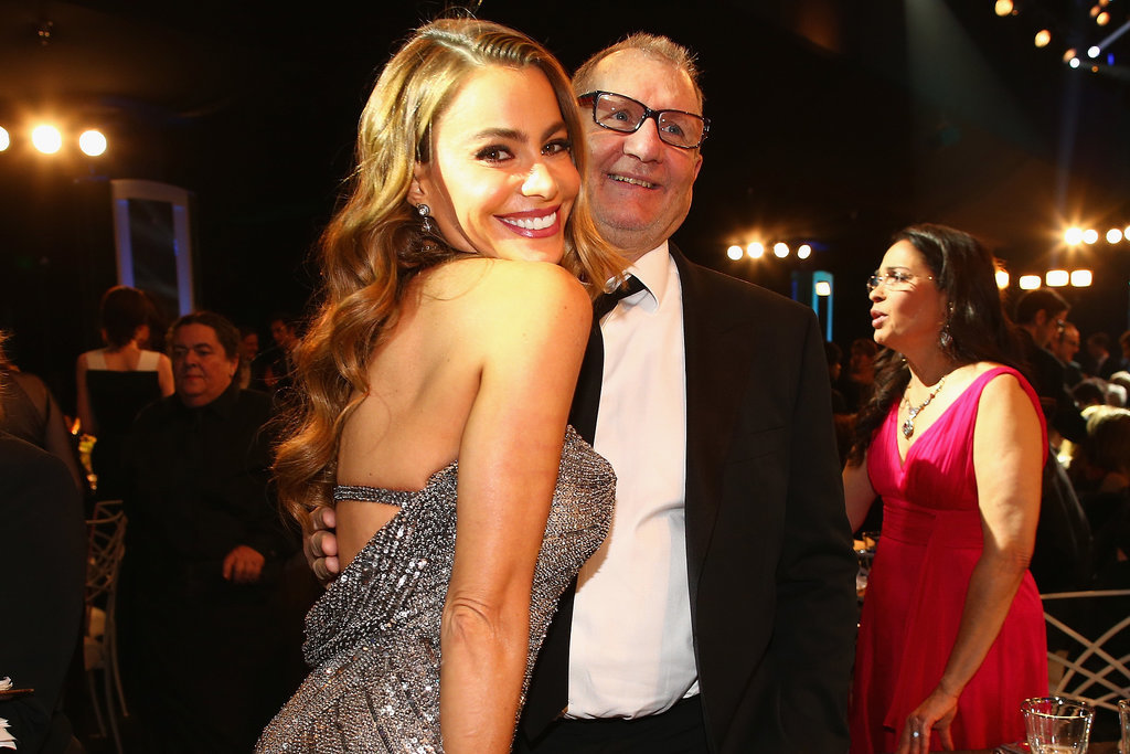 Sofia Vergara and Ed O'Neill posed for a photo.
