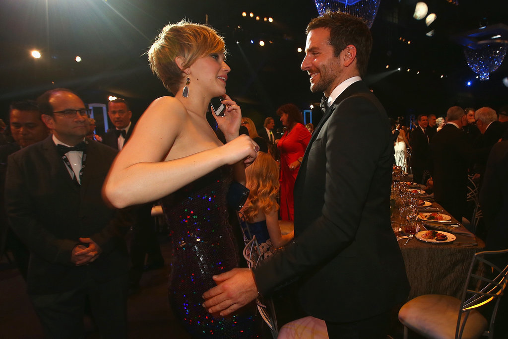 Jennifer Lawrence talked to Bradley Cooper.