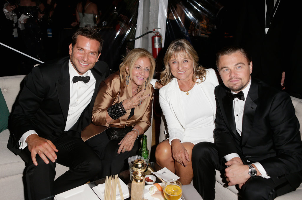 Bradley Cooper and his mother, Gloria Campano, partied with Leonardo DiCaprio and his mom, Irmelin, after the Golden Globes.