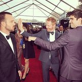Jesse Tyler Ferguson and Justin Mikita shared a moment with Aaron Paul. Source: Instagram user jessetyler
