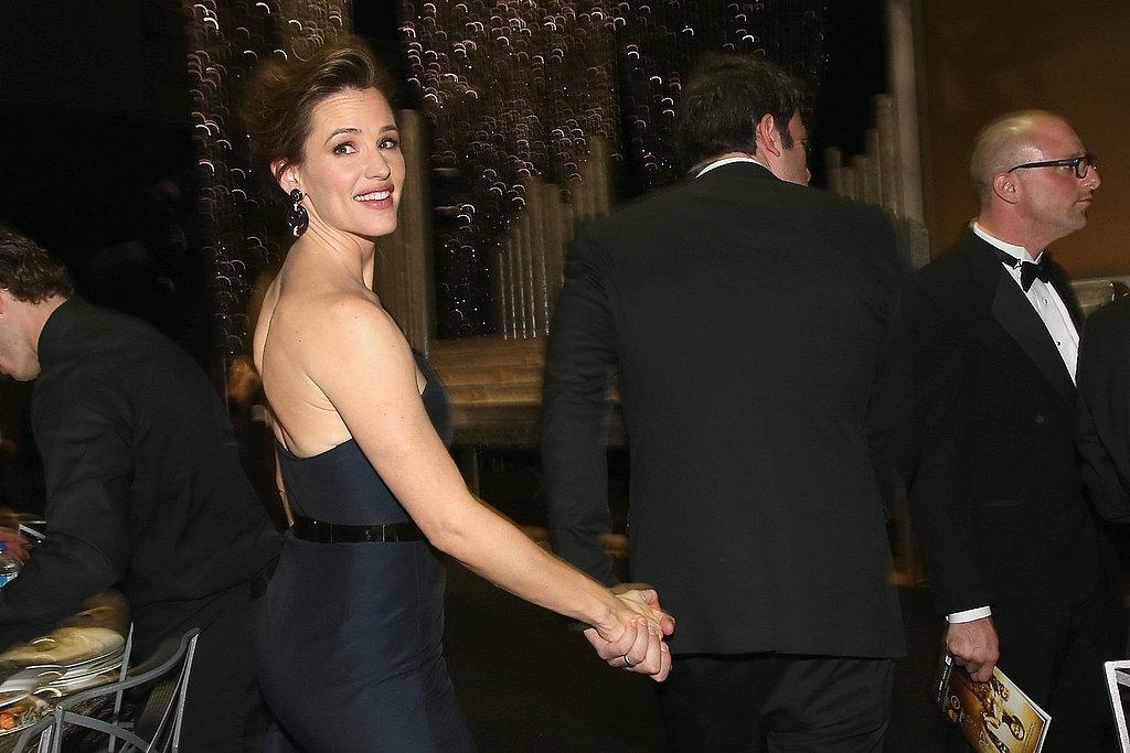 Jennifer Garner held onto Ben Affleck's hand inside the auditorium.