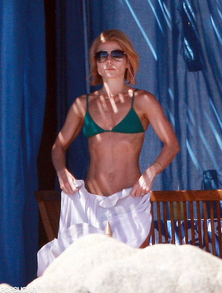 Kelly Ripa spent the day in her bikini.