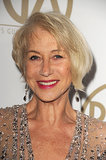 Helen Mirren looked fresh-faced on the red carpet.