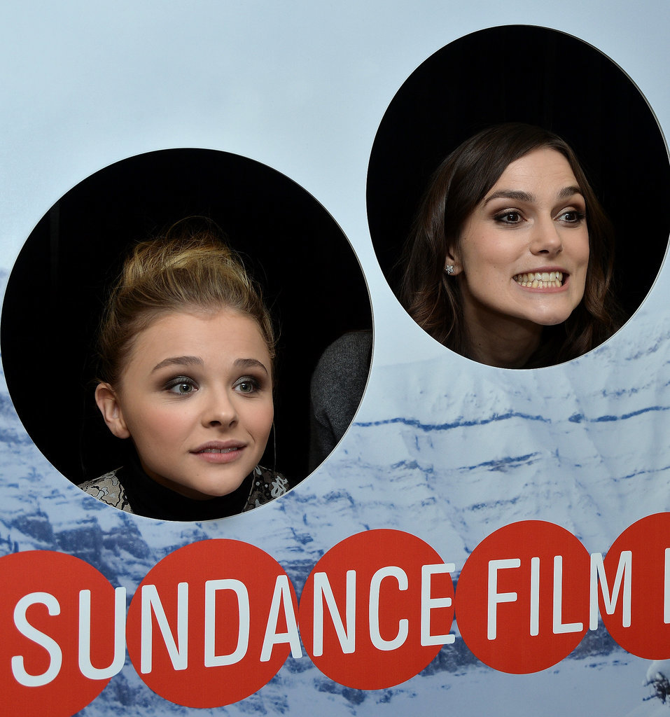Keira Knightley and Chloë Moretz goofed around on Friday.