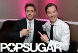 Benedict Cumberbatch and Robert Downey Jr. had fun backstage.