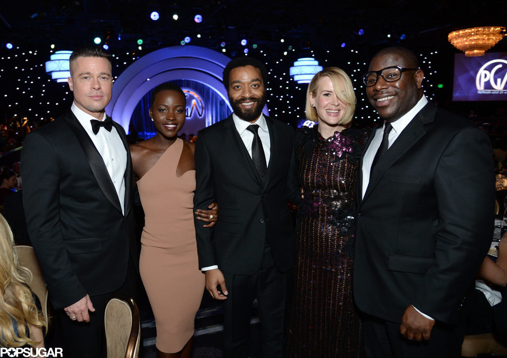 The cast of 12 Years a Slave posed together with director Steve McQueen.