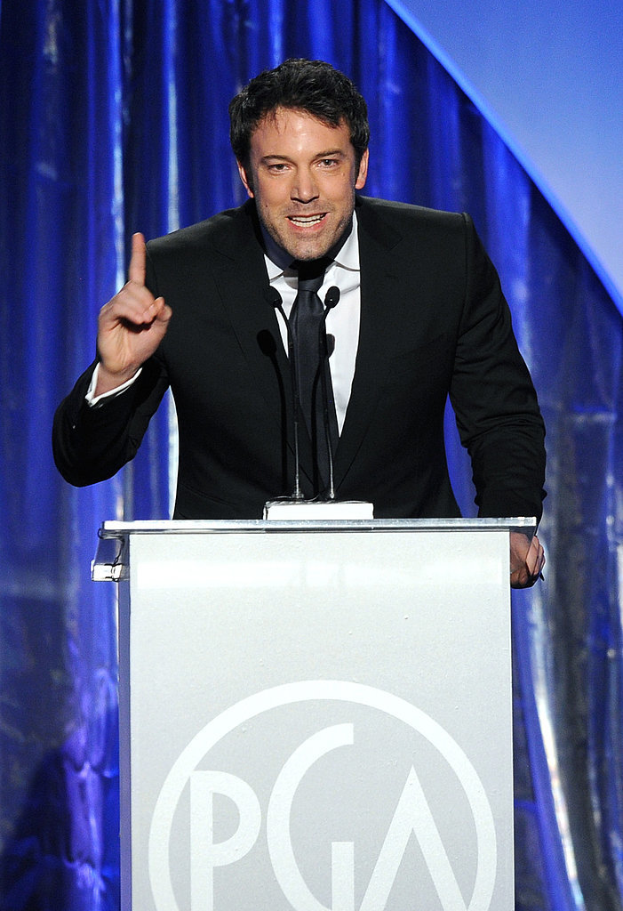 Ben Affleck was animated in his speech.