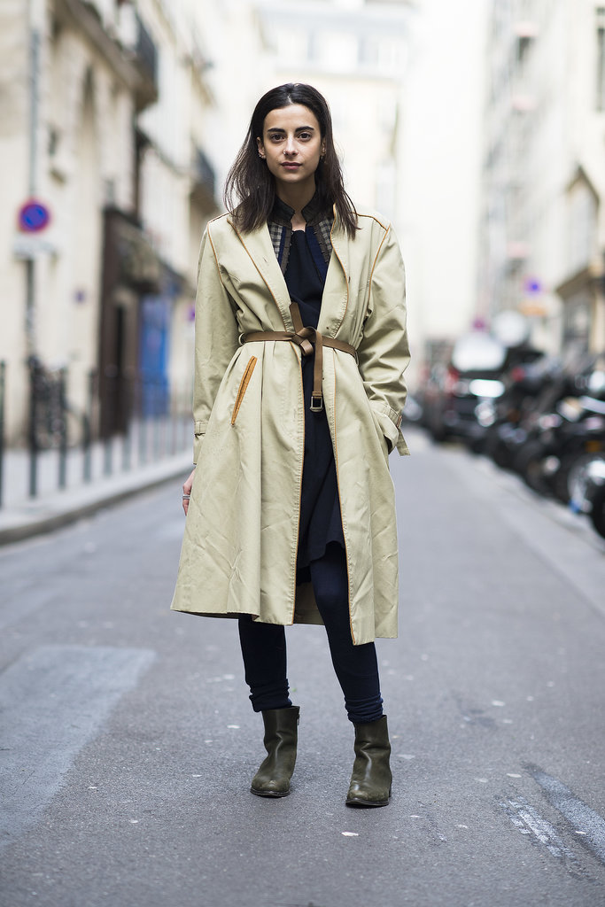 Thrown over your clothes and cinched with a knotted belt at the waist, the coat takes on one of its chicest iterations. Source: Le 21ème | Adam Katz Sinding