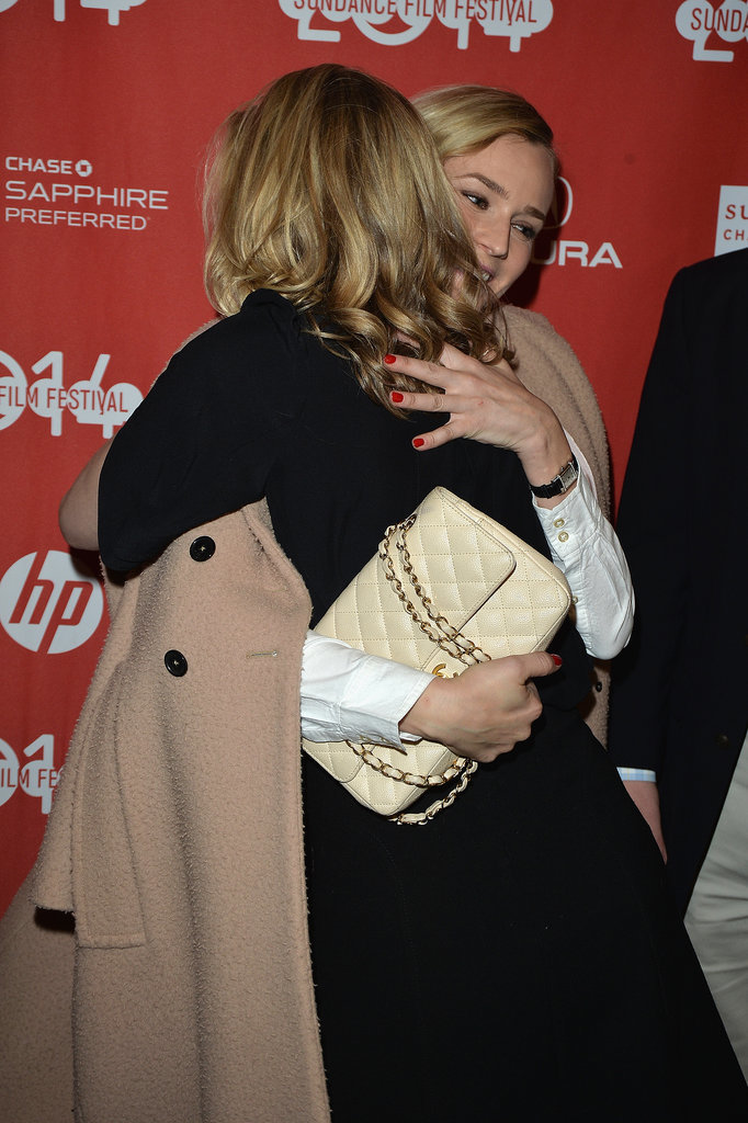 Diane Kruger hugged her The Better Angels costar Brit Marling on Saturday.
