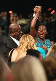 The moment Lupita Nyong'o's name was announced for outstanding supporting actress was priceless.