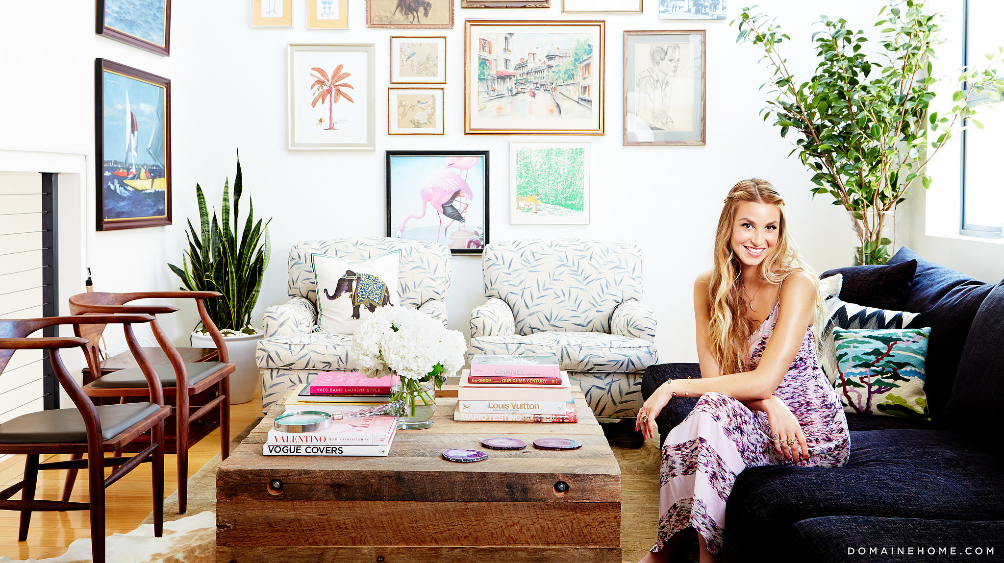 how whitney port sneaks summer into her winter home
