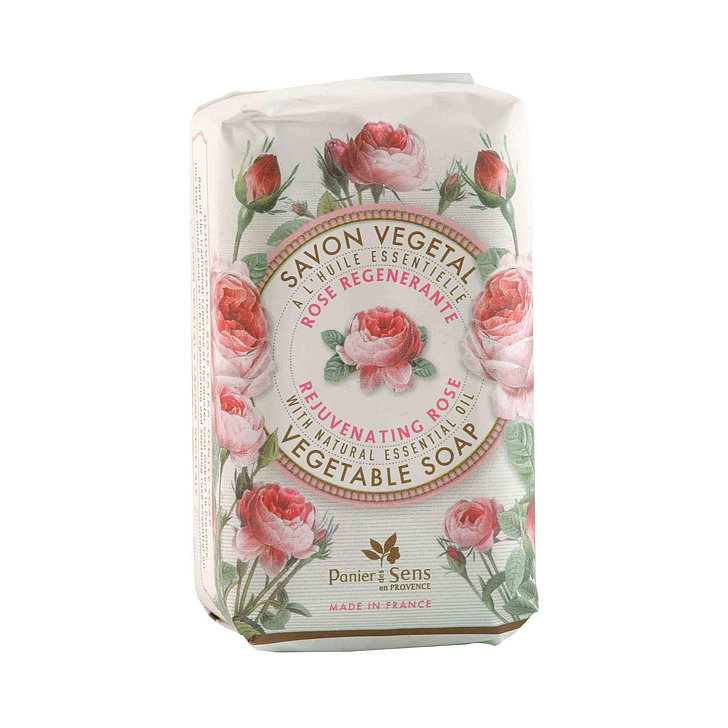 A dozen roses may wilt after a few days, but the scent of this Panier Des Sens Rejuvenating Rose Vegetable Soap ($9) will linger on your skin after every use.