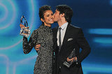 To the delight of Vampire Diaries fans everywhere, Ian Somerhalder gave Nina Dobrev a kiss on stage at the People's Choice Awards.