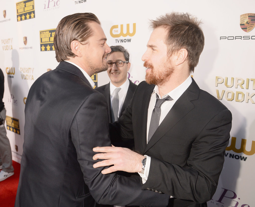 And Leo Snuck Up on Sam Rockwell at the Critics' Choice Awards