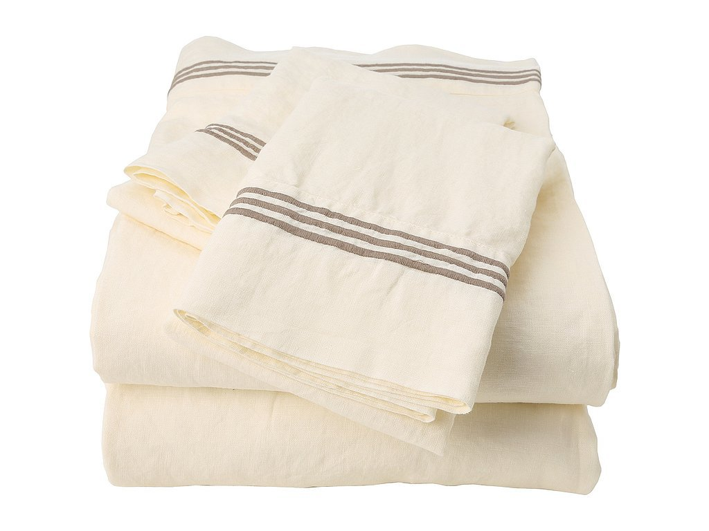 It's hard to beat the luxurious look and feel of linen bedding ($260). It's a timeless touch and gets softer after each wash — you can thank us later.