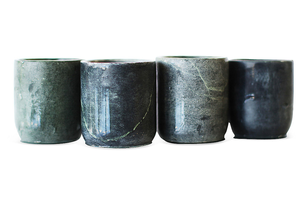 Upgrade a bar setup with these soapstone shot glasses ($20, originally $30), the perfect gift for the cocktail-loving couple.