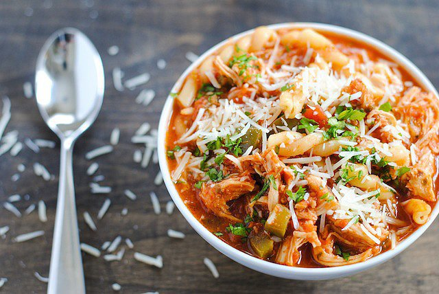 Slow-Cooker Chicken Parmesan Soup