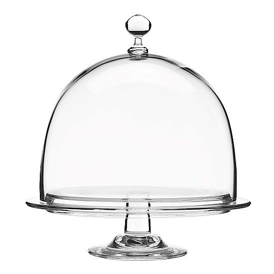 Not only will a glass dome ($88) keep food fresh and clean, it will add some decorative flair, too.
