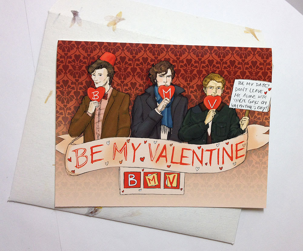 Sherlock and Doctor Who Valentine