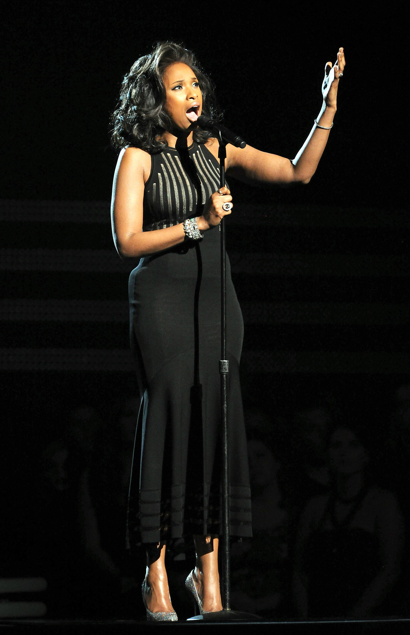 Jennifer Hudson performed an emotional tribute to Whitney Houston during the 2012 show.