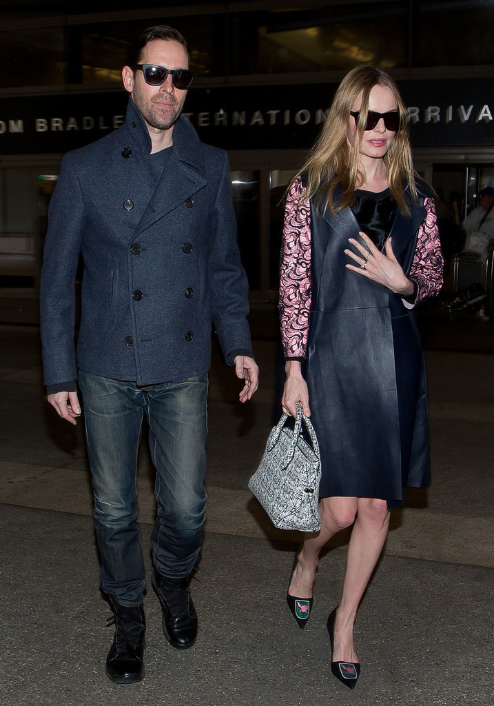 We can only imagine what destination Kate Bosworth was jetting off to in a look this polished.