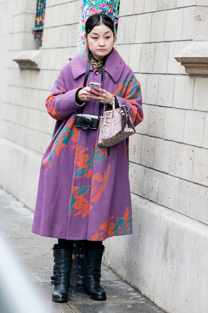 The most beautiful patterned coat requires no other accoutrements.